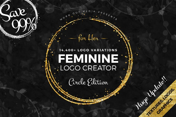 Feminine Logo Creator Circle Edition - Get 99% OFF