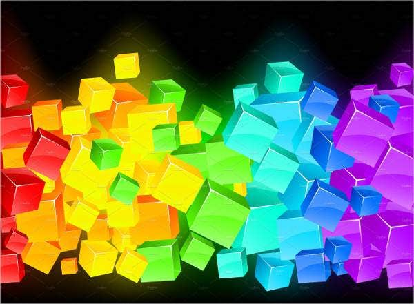 colorful 3d cubes rainbow background download1