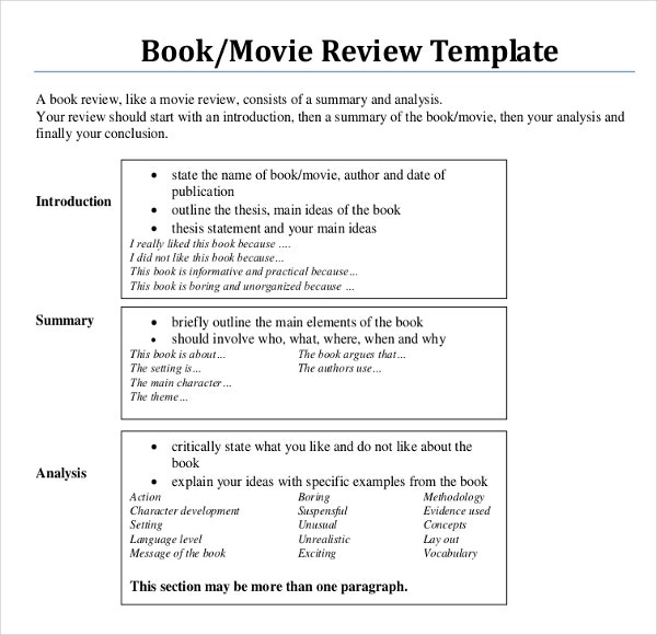 writing a book review for kids