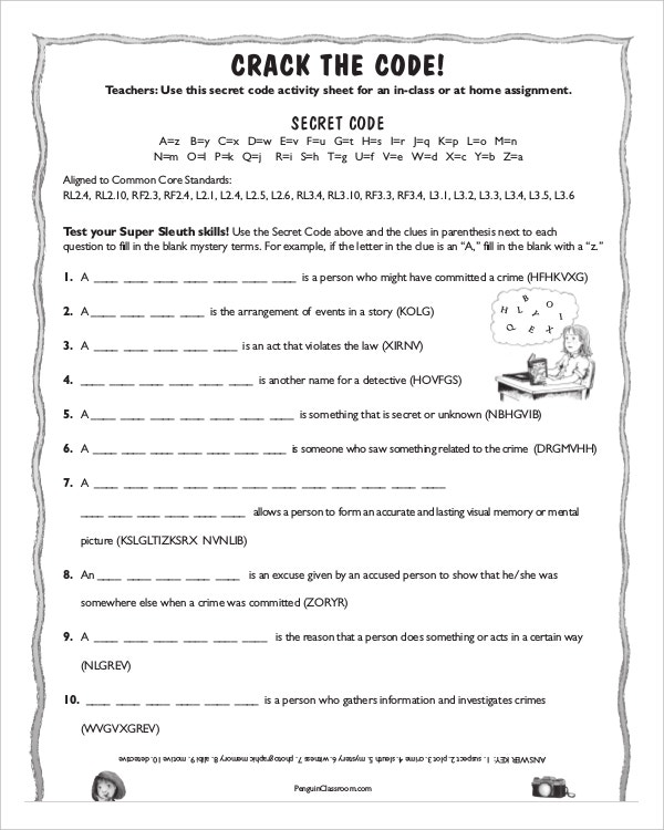 sample blank common core sheet