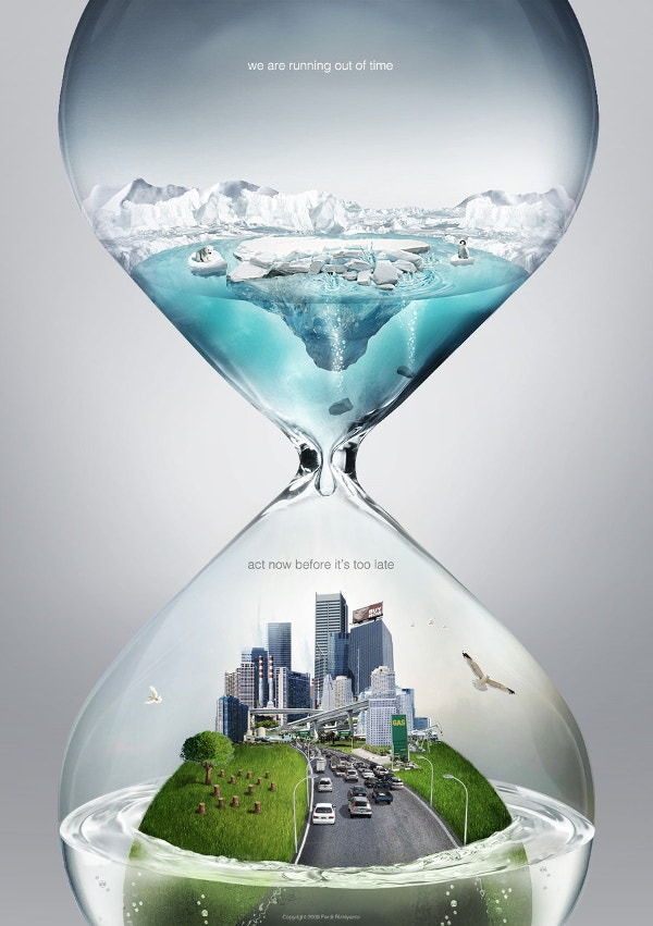 global warming time creative poster1