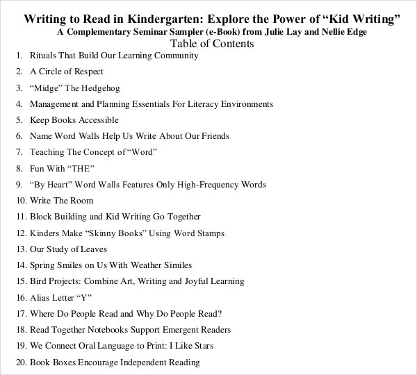 12 book writing templates free sample example format download
