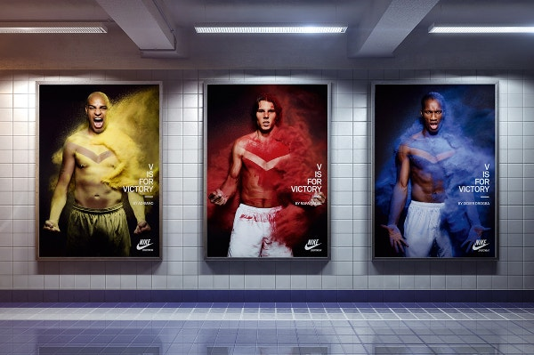 creative ad posters in the subway