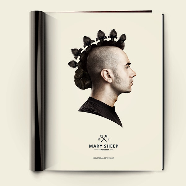 creative mary sheep print ad poster