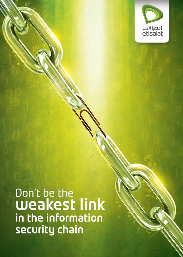 etisalat information security creative ad poster