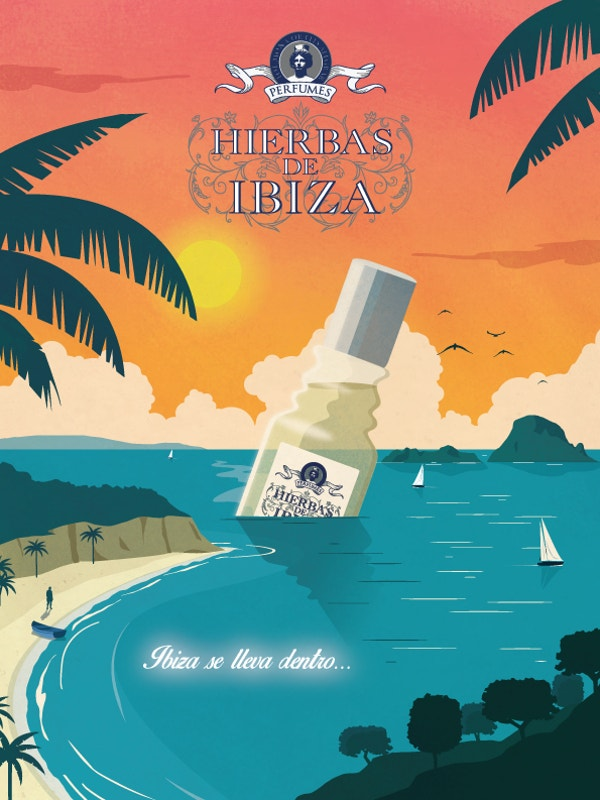 Hierbas de Ibiza Creative Ad Poster Download
