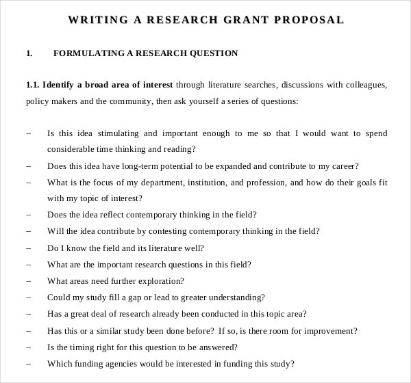 writing a scientific proposal