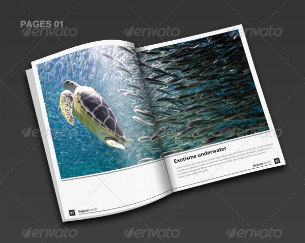 indesign travel brochure template