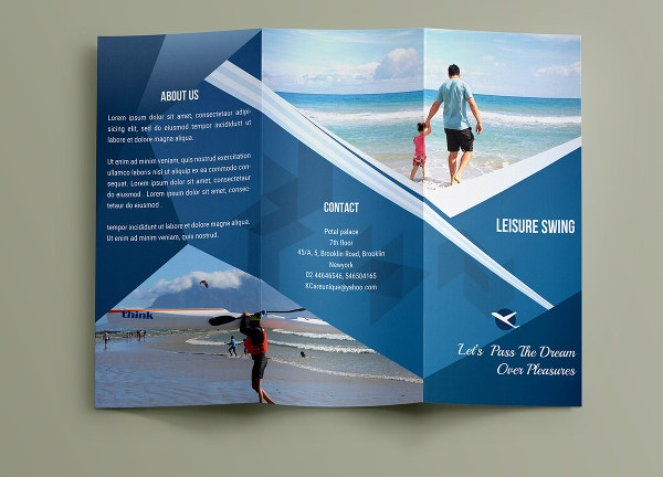 Travel brochures 18 psd ai vector eps format download for Brochure template indesign free download
