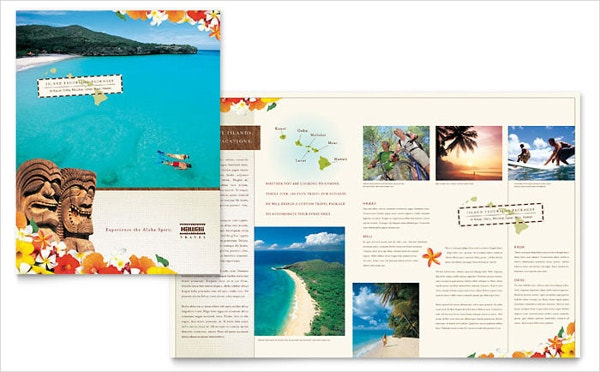 vacation travel brochure template