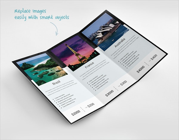 Perfect Trifold Traveler Brochure Template
