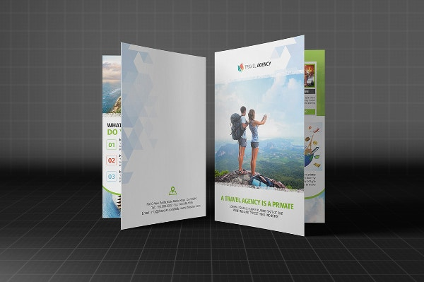 bifold holiday travel brochure