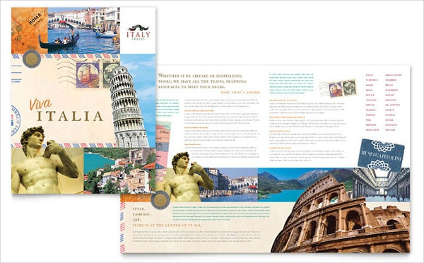 italy travel best brochure template