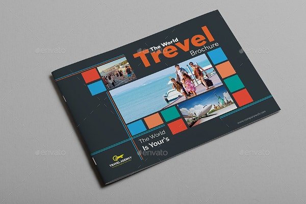 unique world travel brochure template