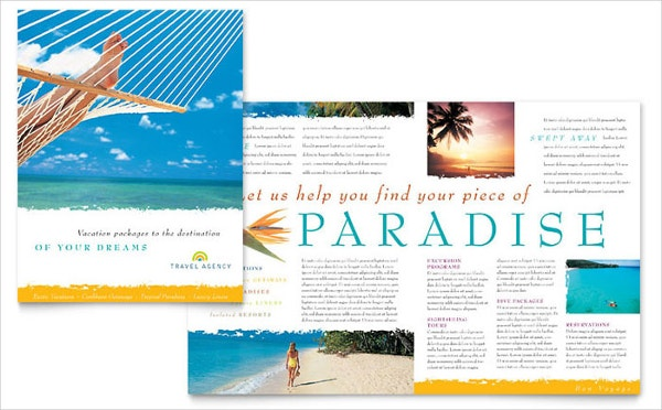 half fold travel brochure template