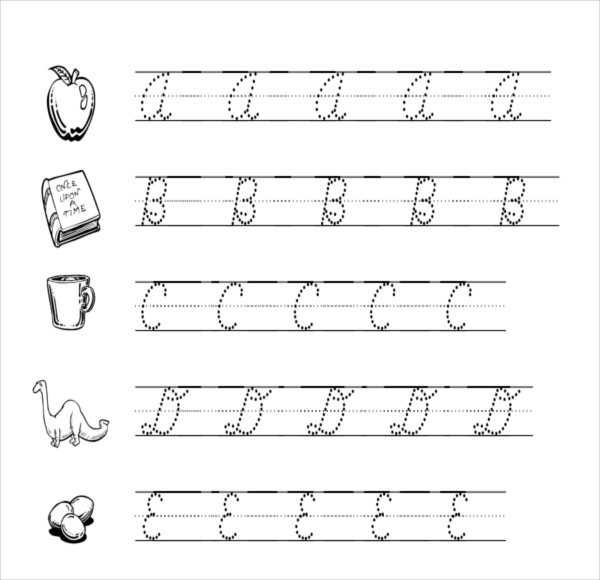 Cursive Template English Cursive Handwriting Practice Sheets