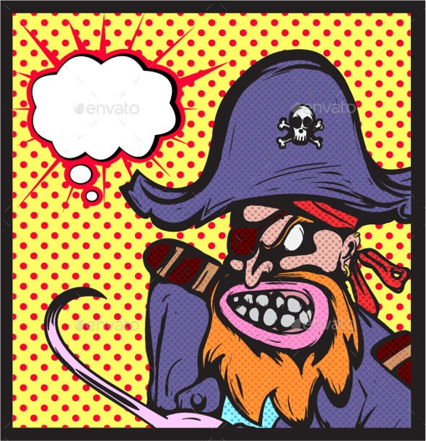 pirate pop art poster illusatration download