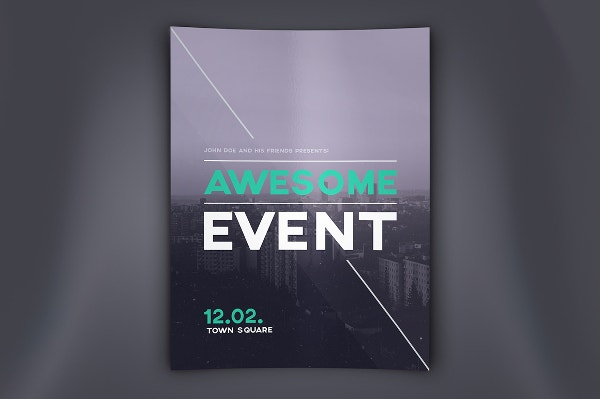 fully editable event flyer template
