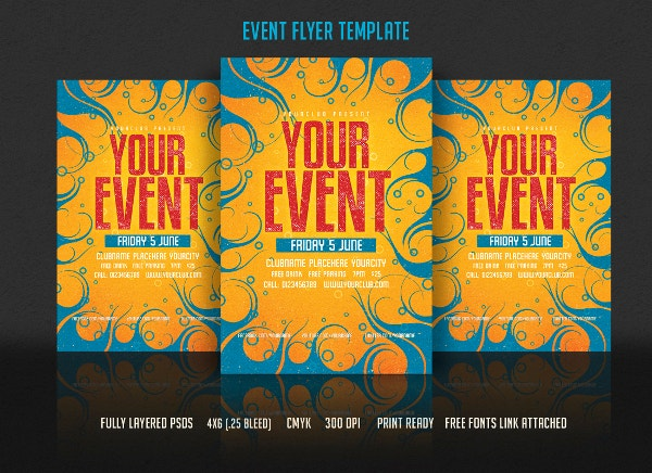 Fullt layered Event Flyer Template