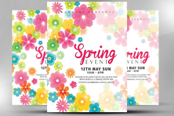 beautiful spring event flyer template