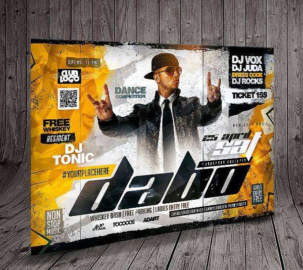 best dj event flyer template