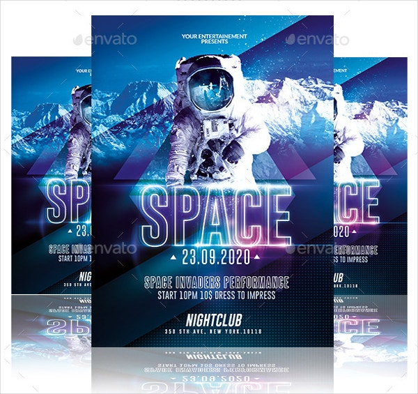 space night event flyer