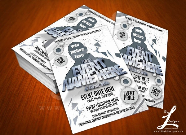 postcard event flyer template