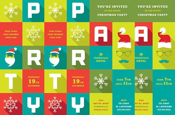 Unique Christmas Party Flyer