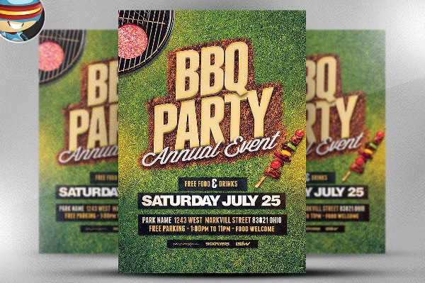 Unique BBQ Party Flyer