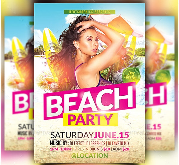 Best Beach party Flyer Template