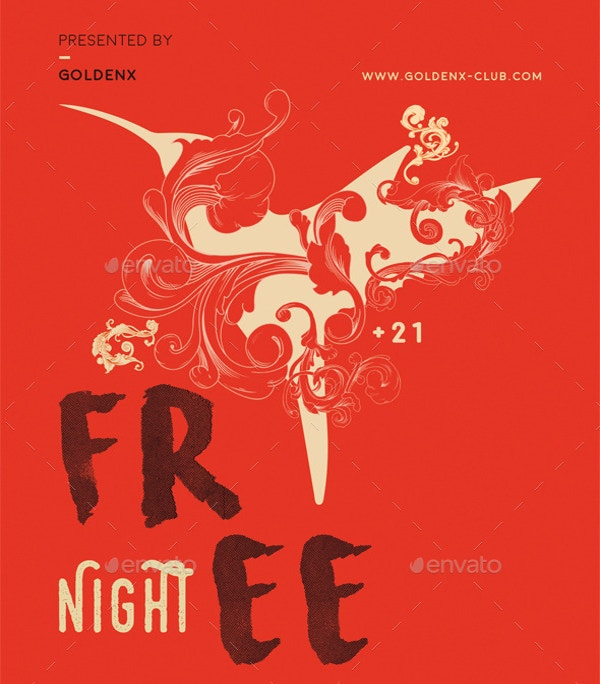 free unique night flyer template