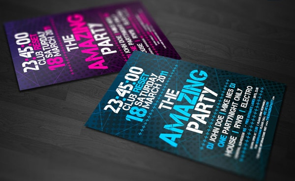 free amazing party flyer template