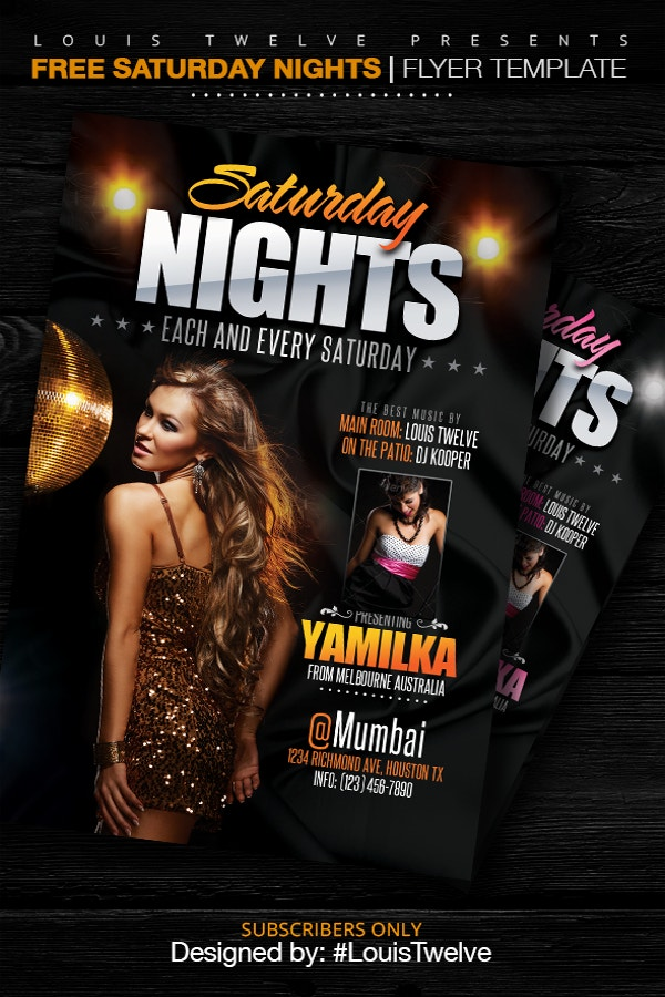 Free Night Flyer Template
