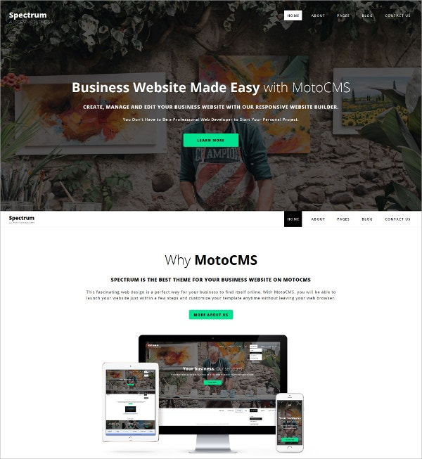 Spectrum Business Website Template $199
