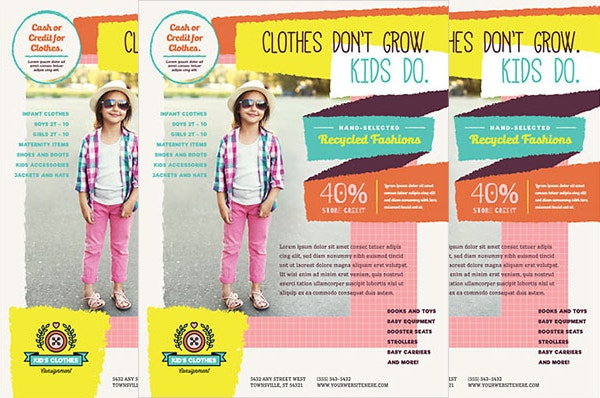 Free Kids Consignment Flyer Template
