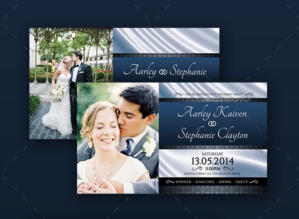 Beautiful Wedding Invitation Card Template PSD Download
