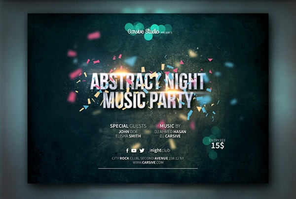 free music flyer template