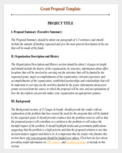Grant Proposal Writing Template in PDF