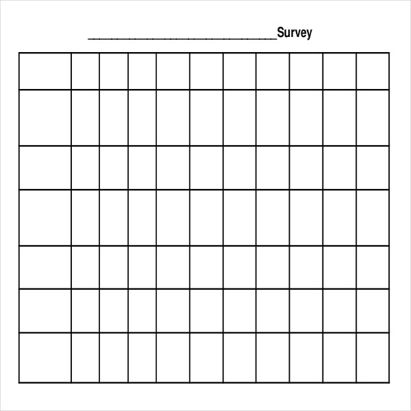 10 Blank Survey Templates Free Sample Example Format Download – Free Survey Templates
