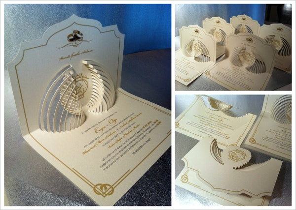 creative special crown wedding invitation card design 2016