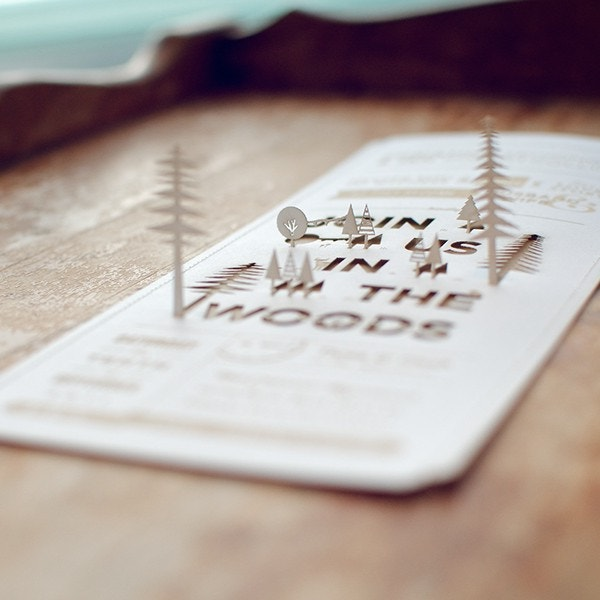the woods creative invitation card template