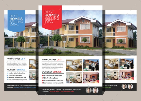 Real Estate Flyers Free PDF PSD AI Vector EPS Format - Real estate advertisement template