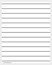 Printable Low Vision Writing Paper