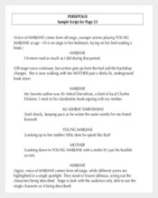 Sample Novel Script Writing Template