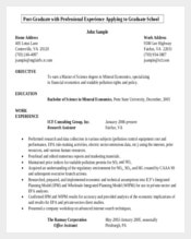Post Graduation Resume Writing Template