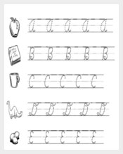 Sample Cursive Writing Practice Upper & Lower Letters