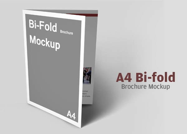 Lovely Best A4 Bifold Brochure Mockup
