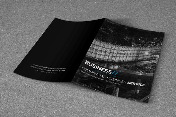 Business Showcase A4 Bi-Fold Brochure Template