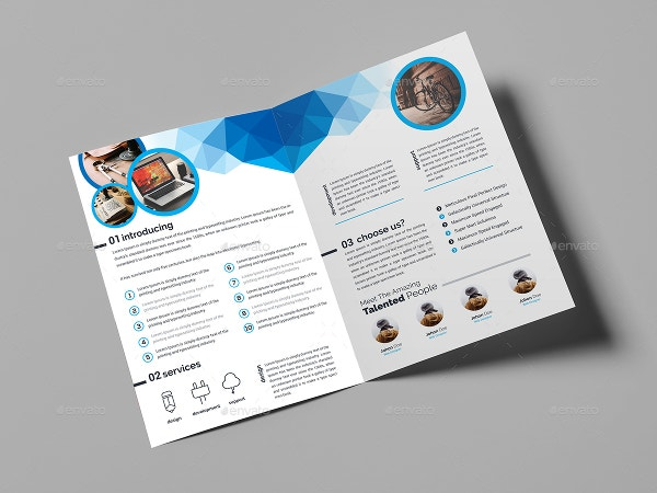 Beautiful Examples Of BiFold Brochures To Inspire You Free - Foldable brochure template