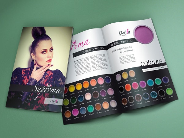 Clarissa Nails Bi-Fold Brochure Template Collection